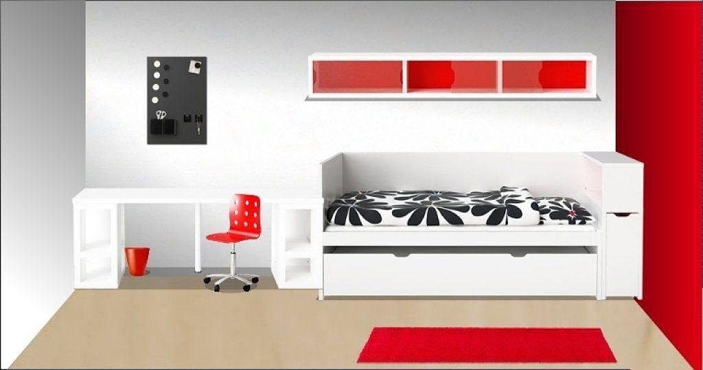 Habitacion con cama flaxa ikea buscar con google a 39 s for Sofa cama con cajones ikea