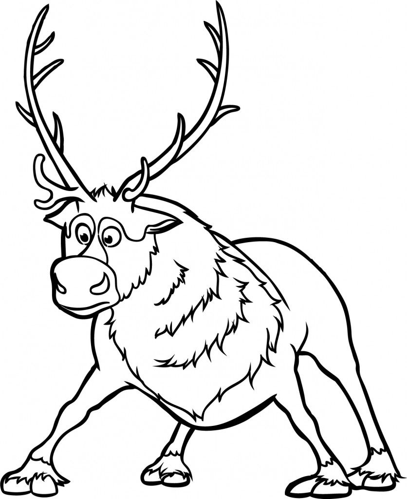 frozen reindeer Google Search Frozen coloring pages