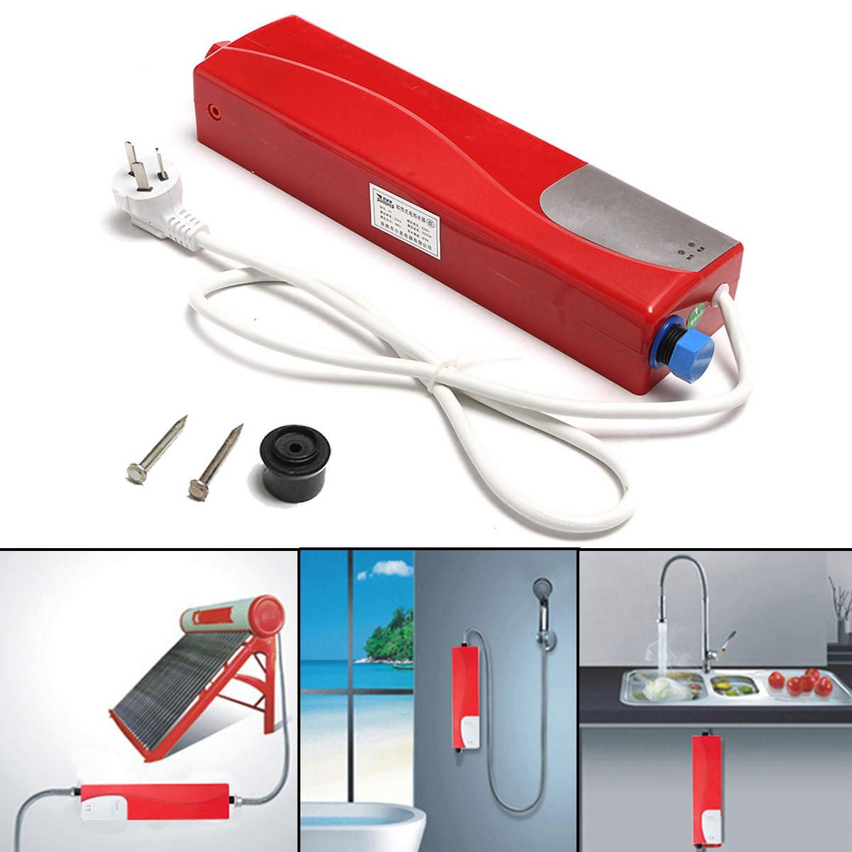 220V 3000W Tankless Water Heater Electric Shower Instant