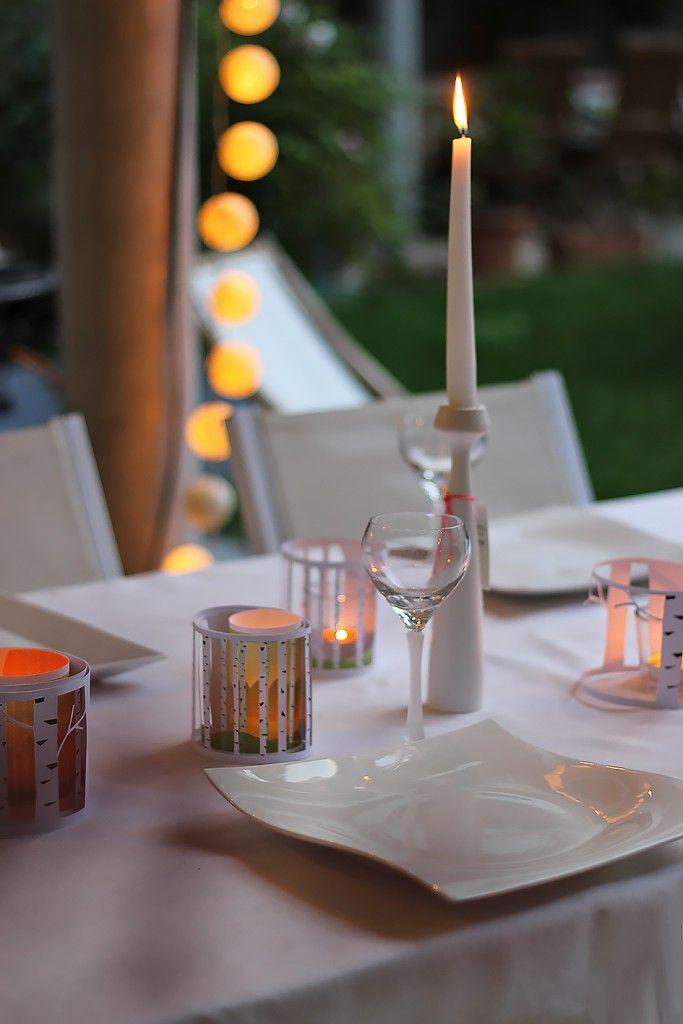 Photo of DIY Windlicht aus Papier: Gratis utskrivbar erleuchteter Birkenwald