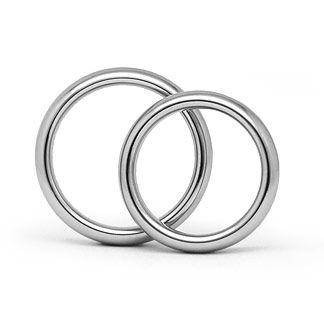 580f7194cc Schlichte Eheringe in 585 Weißgold ohne Stein 4 mm breit, 2,3 mm stark