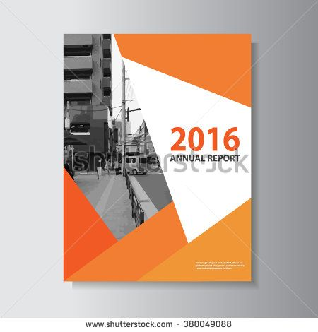 Orange Vector Leaflet Brochure Flyer Template A4 Size Design, Annual Report  Book Cover Layout Design  Annual Report Template Design