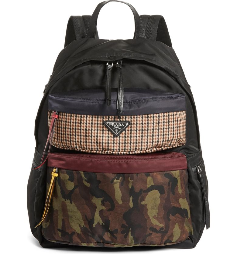3d85e2534af1 Tessuto Camo Patch Nylon Backpack, Main, color, Camo PRADA Total quality as  point