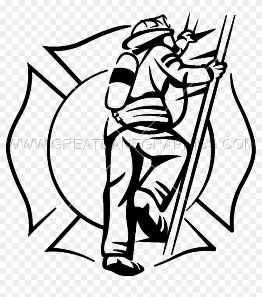 Download And Share Clipart About Fireman Ladder Firefighter Black And White Real Find More High Quality Firefighter Drawing Firefighter Firefighter Clipart