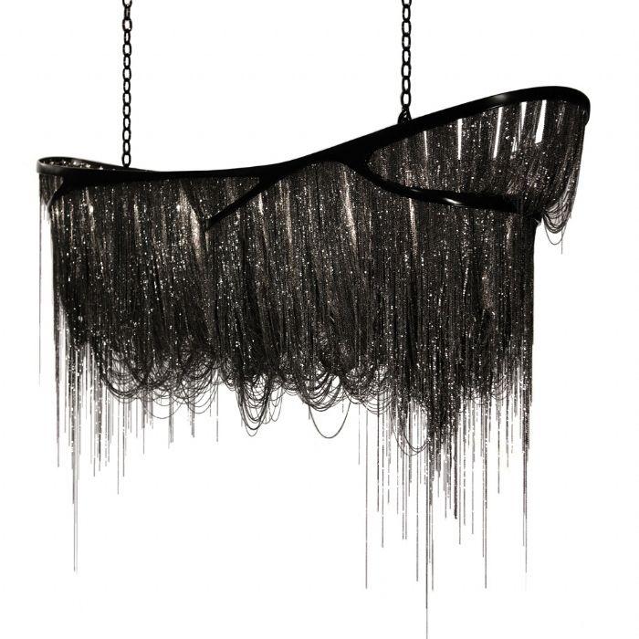 Delightful Hudson Furniture   Black Dragon Design By Baylar Atelier Black Nickel Frame  Black Nickel Chains