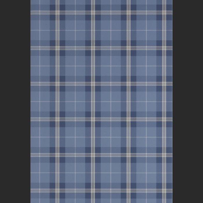 Papiers peints Winslow Plaid - Navy Blanc, Gris, Bleu | Envies ...