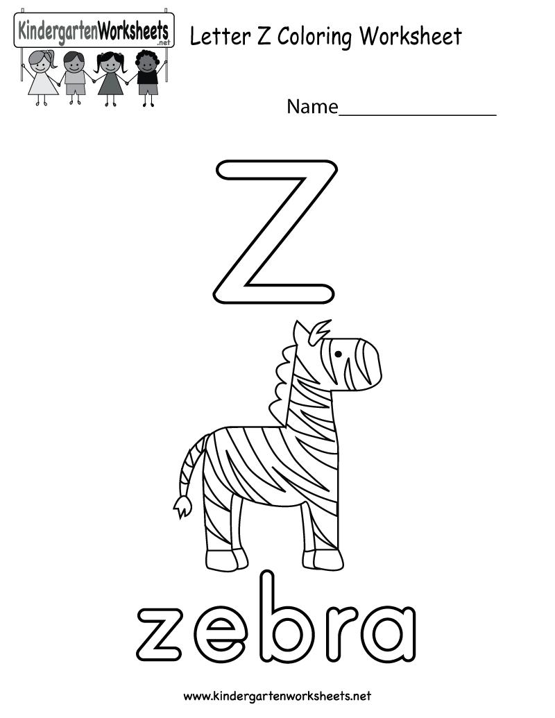 This Is A Letter Z Coloring Worksheet For Preschoolers Or Kindergarteners This Would Preschool Worksheets Alphabet Worksheets Alphabet Worksheets Kindergarten