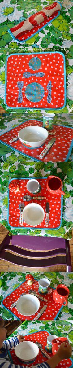 Le set de table pour apprendre bien placer les ustensiles couture pour la maison pinterest - Couture pour la maison ...
