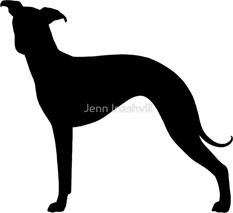 Italian Greyhound Silhouette S Sticker Dog Stencil Italian