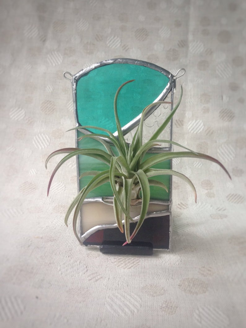 Stained Glass Air Plant Holder Etsy in 2020 (With images