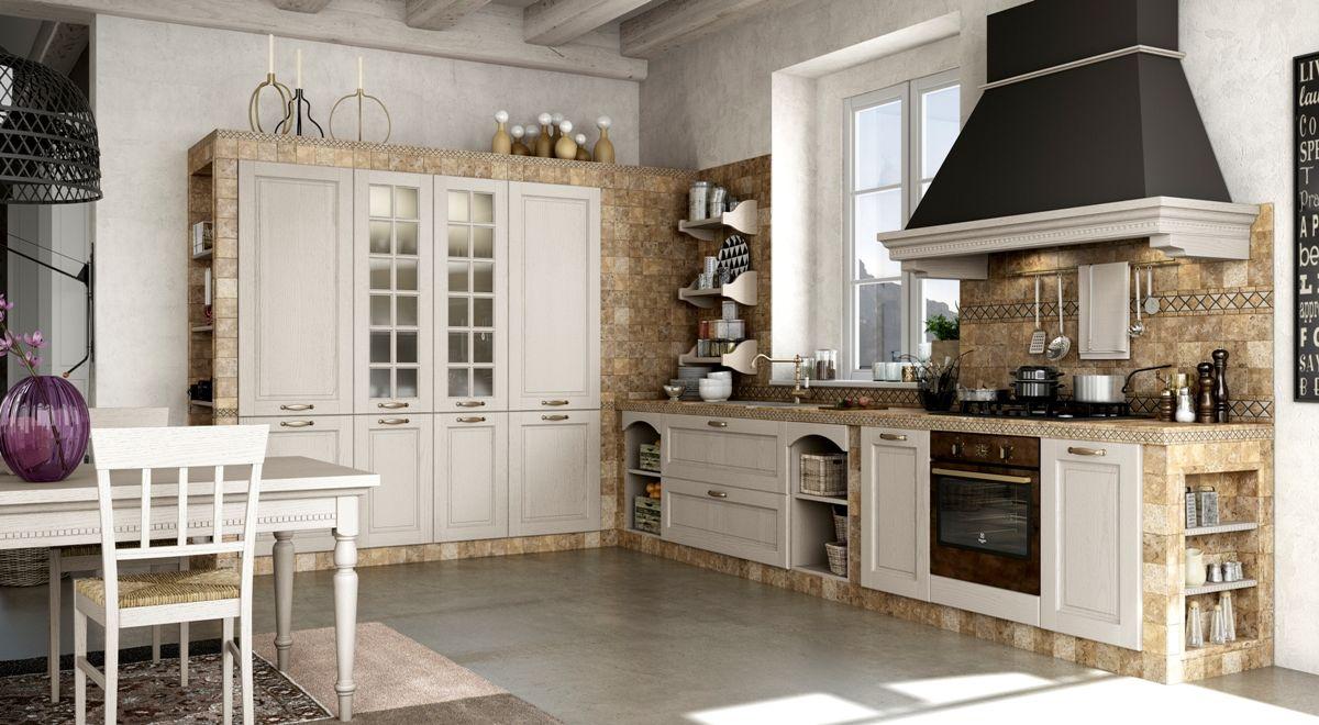 Una nota di colore grigio scuro nella cappa tradizionale della cucina poppi grigio by - Cucina grigio scuro ...