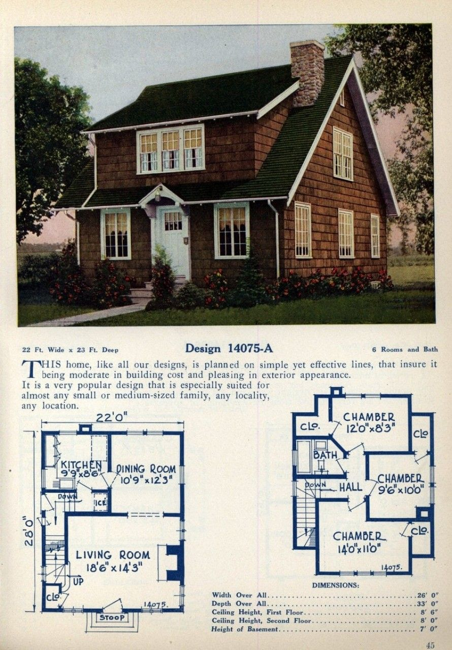 62 Beautiful Vintage Home Designs Floor Plans From The 1920s In 2020 Colonial House Plans American Home Design Home Design Floor Plans