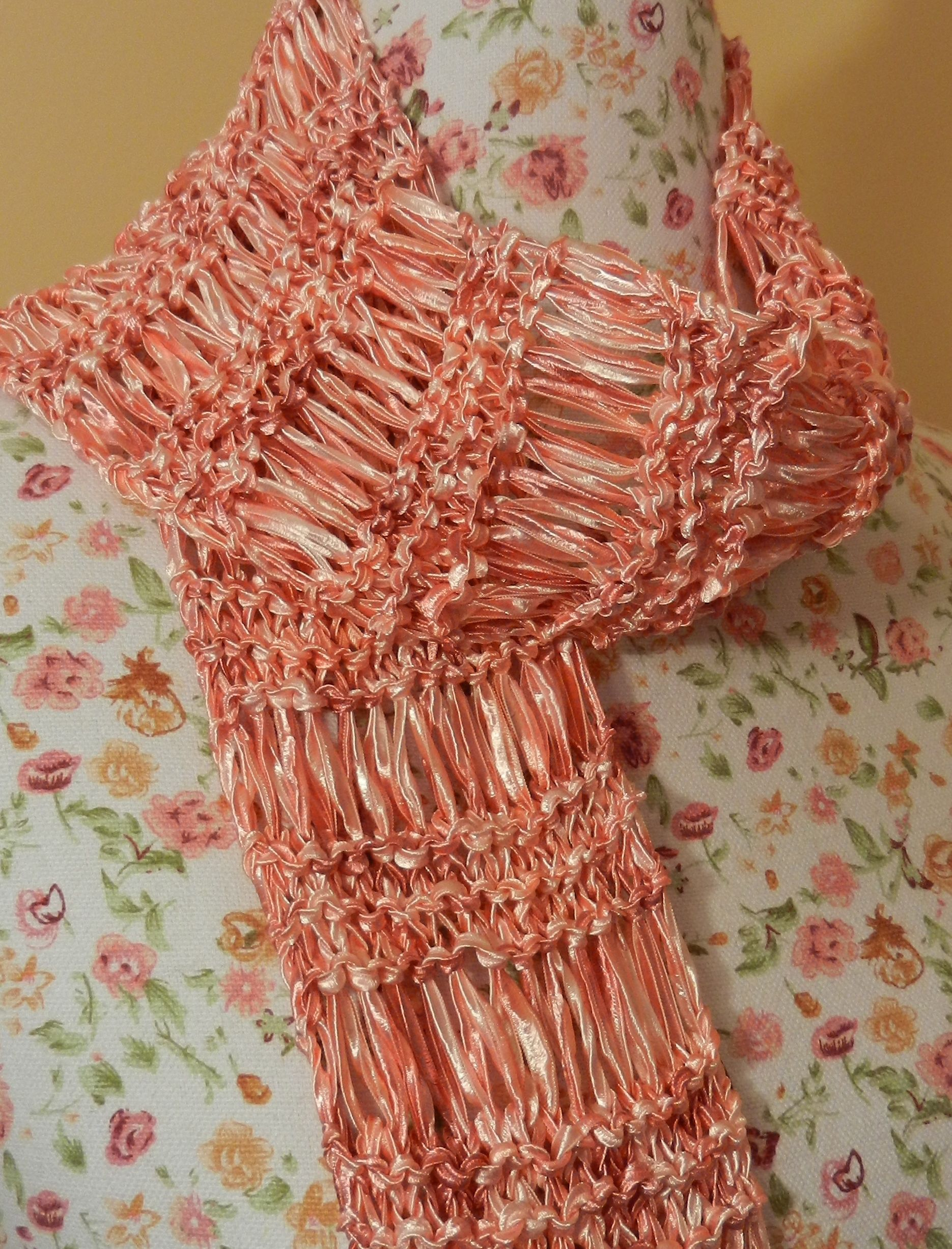 Ladder Ribbon scarf Crochet Pattern | Ribbon Yarn Pattern Photo ...
