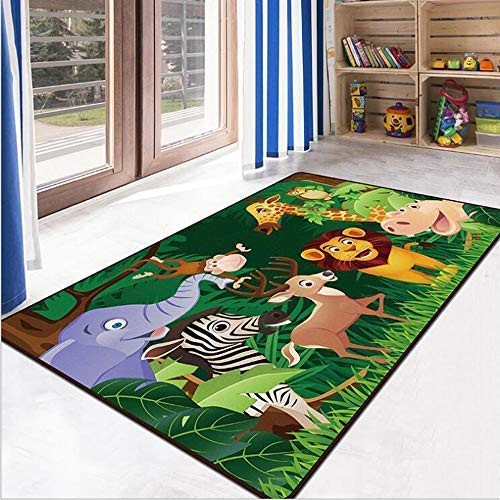 Ruihome Jungle Theme Kids Play Mat