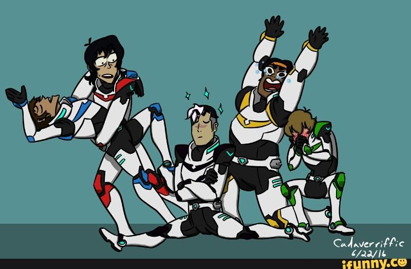 VLD Fan Art - Team Voltron Is Outta This World~