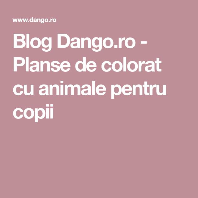 Adaugă Pin Pe Planse De Colorat Cu Animale