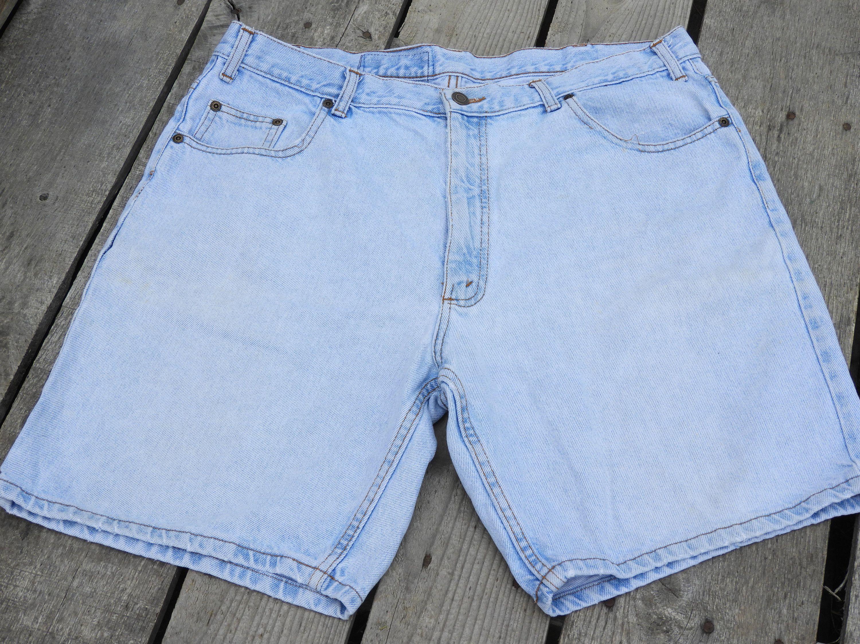 Vintage High Waisted Mom Shorts Mens Very Faded Shorts Womens 35 Waist Jean Shorts Mesa Fashion Shorts Retro Fade Clothing