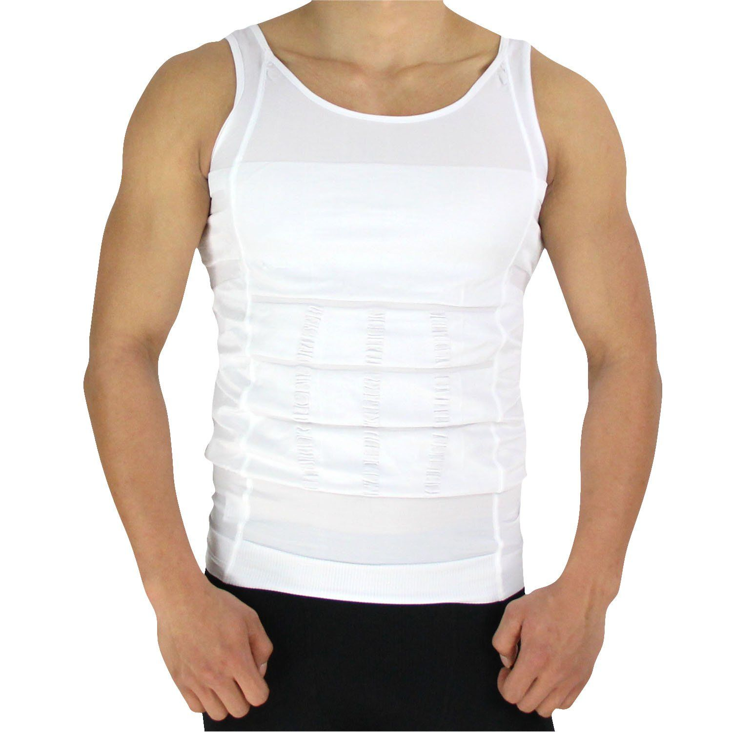 b914daa65e3 H oter Mens Slimming Body Shaper Vest Shirt Abs Abdomen Slim