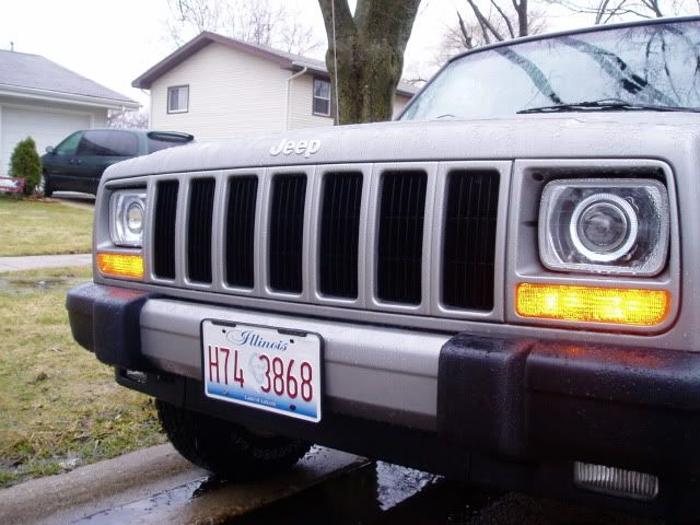 Conversion Headlight Kit To H4 With Projectors Angel Eyes Jeep