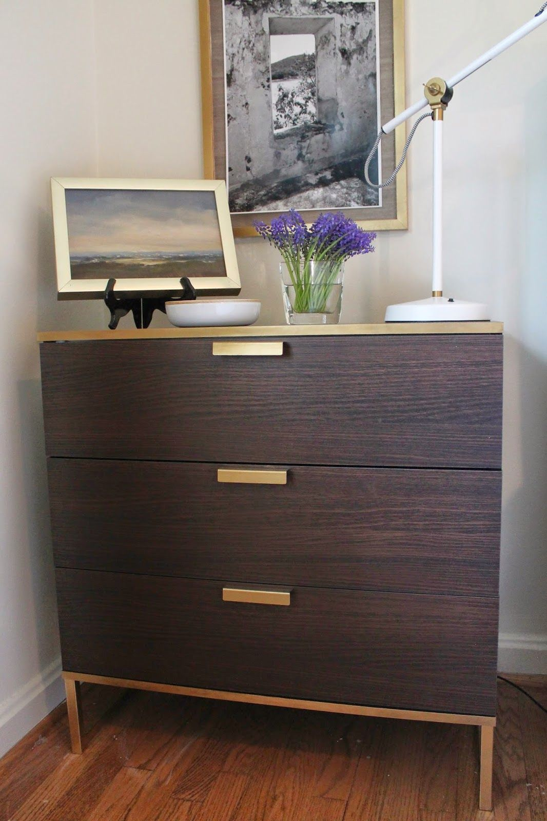 The nightstand is a mini ikea hack of the trysil dresser for Ikea brusali dresser
