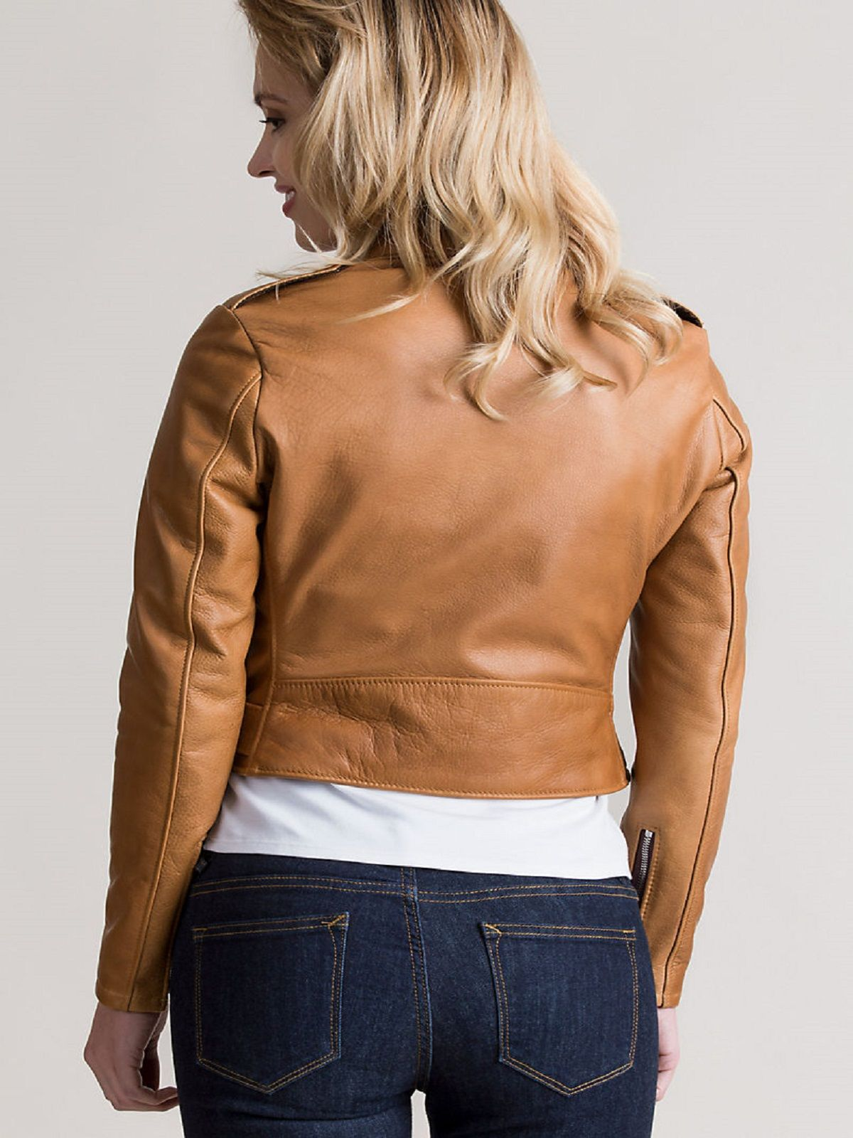 Women's Rust Brown Leather Jacket Leather jacket women