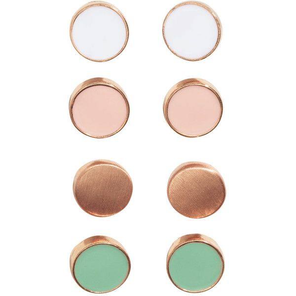 4 Pairs Earrings $5.99 ($5.99) ❤ liked on Polyvore featuring jewelry, earrings, accessories, metal jewelry, round earrings, metal earrings, h&m earrings and earrings jewelry