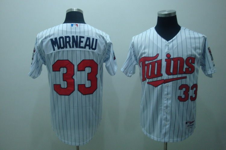 $22 MLB Jerseys Minnesota Twins Justin Morneau #33 White