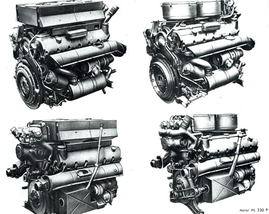 comparison between maybach hl 210/230 | tiger 1 parts | pinterest