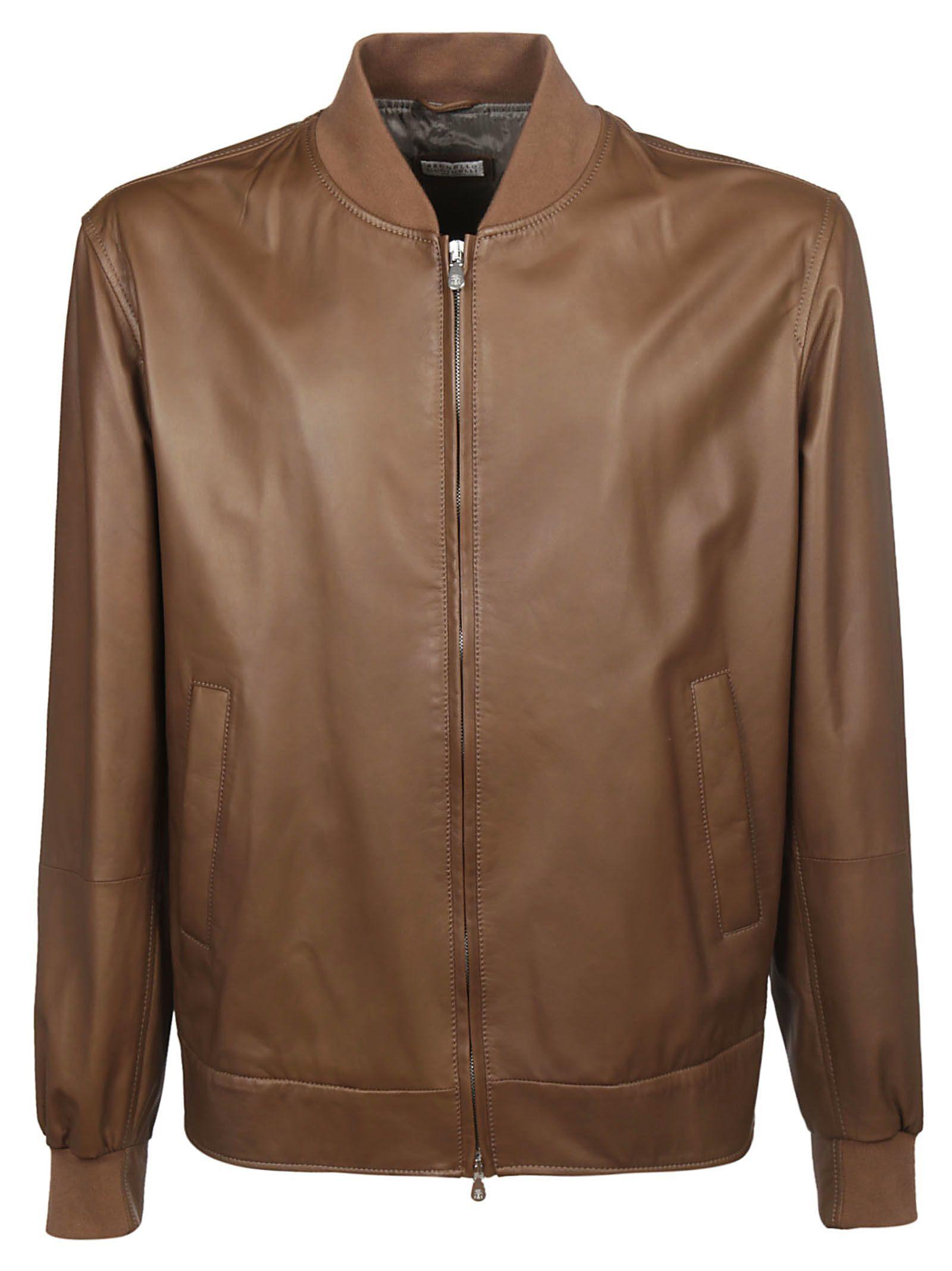 Brunello Cucinelli Zipped Leather Jacket Brunellocucinelli Cloth Zipped Leather Jacket Leather Jacket Jackets [ 2136 x 1600 Pixel ]