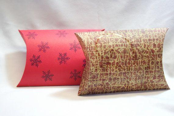 DIY Box, Gift Box, Paper Box, Box Template, Large Pillow Box, Favor ...