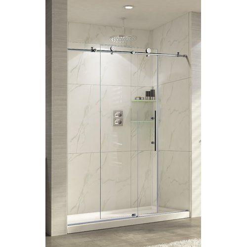 Trident Lux 60 X 76 Single Sliding Shower Door Shower Doors Frameless Shower Doors Shower Enclosure