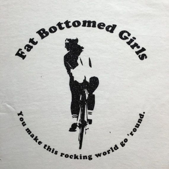 Original Queen Fat Bottomed Girls Lyric T Shirt By MajorTomVintage