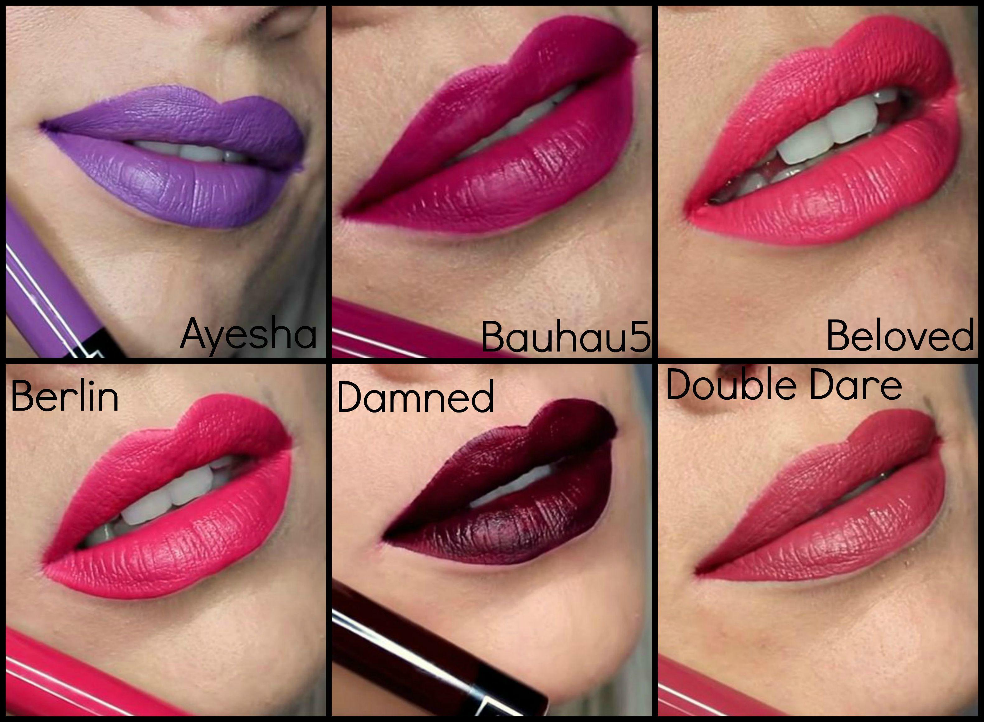 Kat Von D Liquid Lipstick Swatches | Makeup | Pinterest | Kat von ...