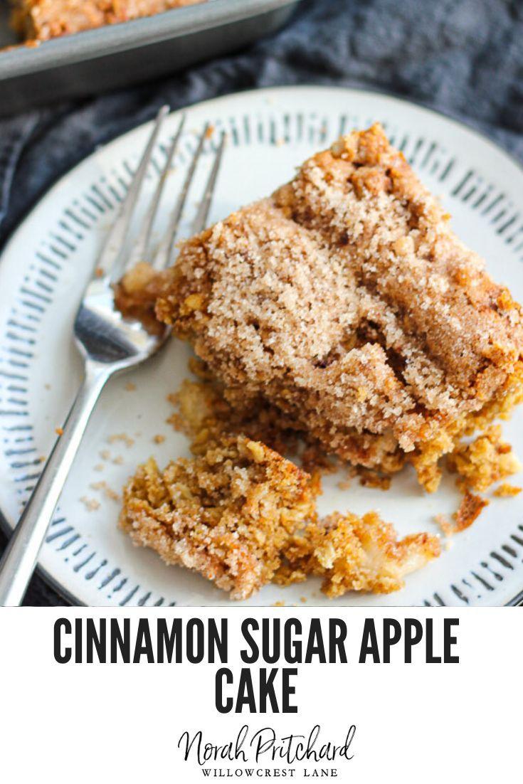 Old fashioned cinnamon sugar apple cake recipe with