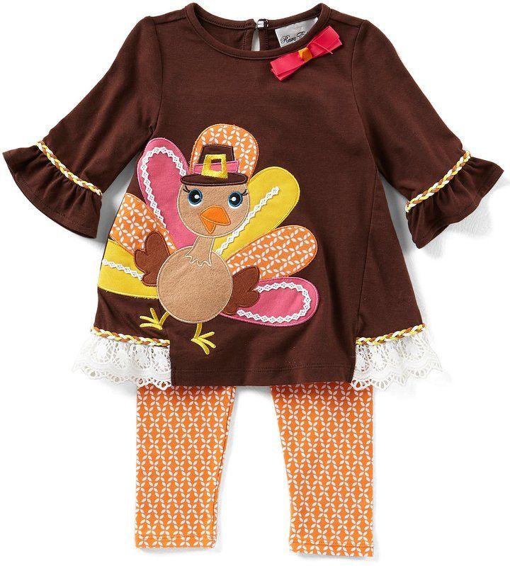 5b4ec803b29 Rare Editions Baby Girls 3-24 Months Thanksgiving Pumpkin Jumper Dress   Striped  Bodysuit Set