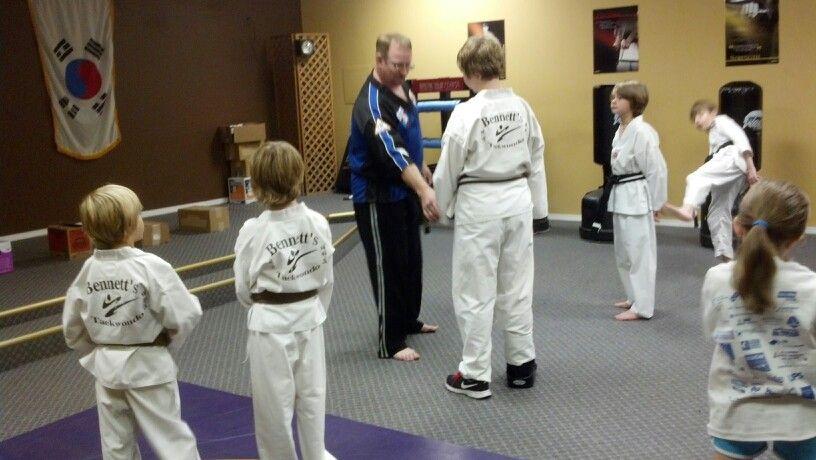 Self-defense techniques in taekwondo training