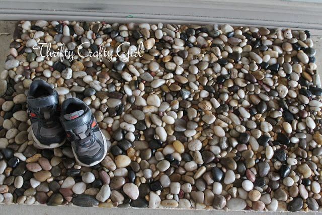 Thrifty Crafty Girl Diy Stone Welcome Mat