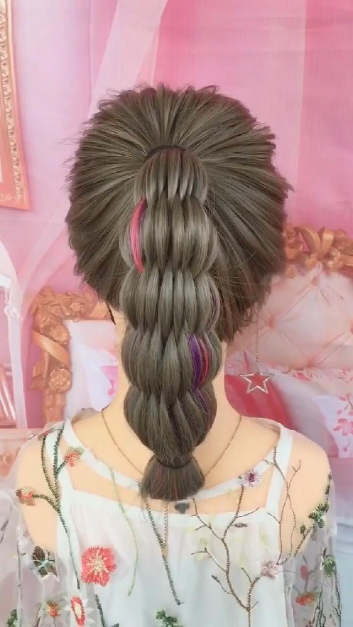 Frisur Tutorial 977 Acrylicnails Gelnailpolish Hairstyle Nailpolish Nailsfall2019 In 2020 Hair Tutorial Hair Styles Hair Braid Videos