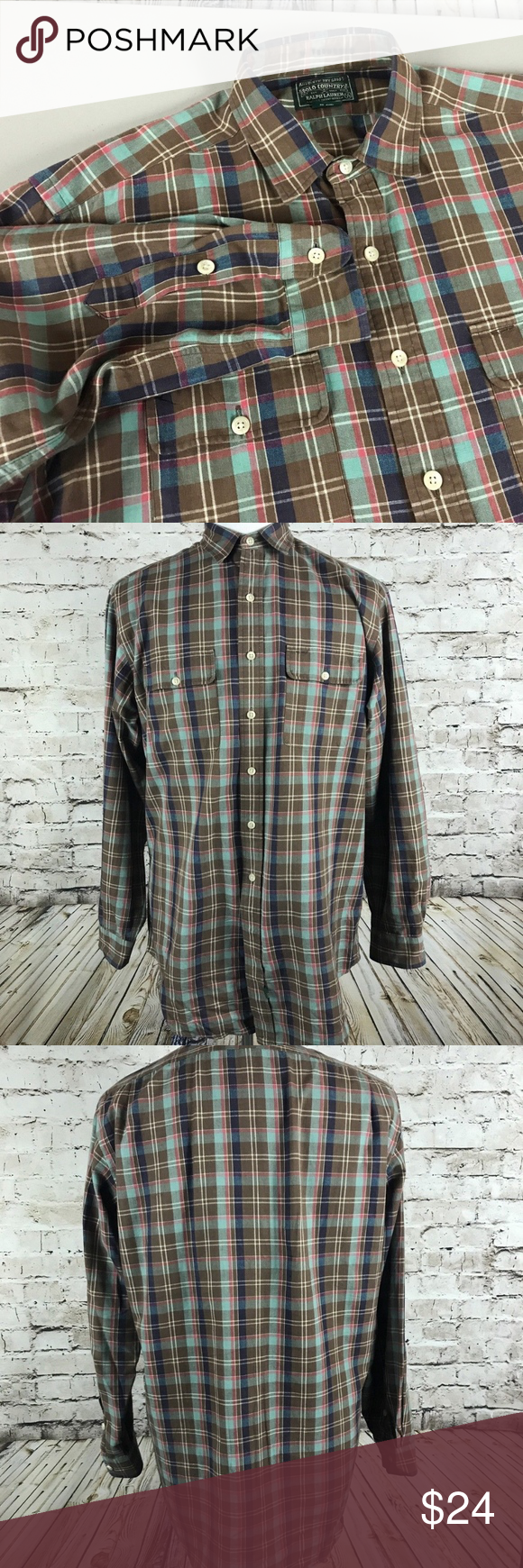 Flannel shirt with suit  VTG Polo Ralph Lauren Flannel Shirt Size Large  Stuff to buy