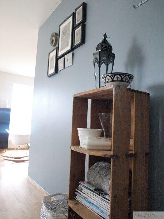 5f287fe5d07 Blauw/grijze muur   Home - Blauw grijze muren, Woonkamer kleuren en ...
