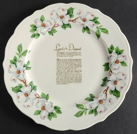 Syracuse Dogwood Scalloped Show Or Decorative Plate (Charger) & Syracuse Dogwood Scalloped Show Or Decorative Plate (Charger ...