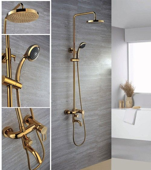 gold bathroom faucet. Gold Bathroom Fixture | AGDRS03 Antique Design Rain Shower Faucet E