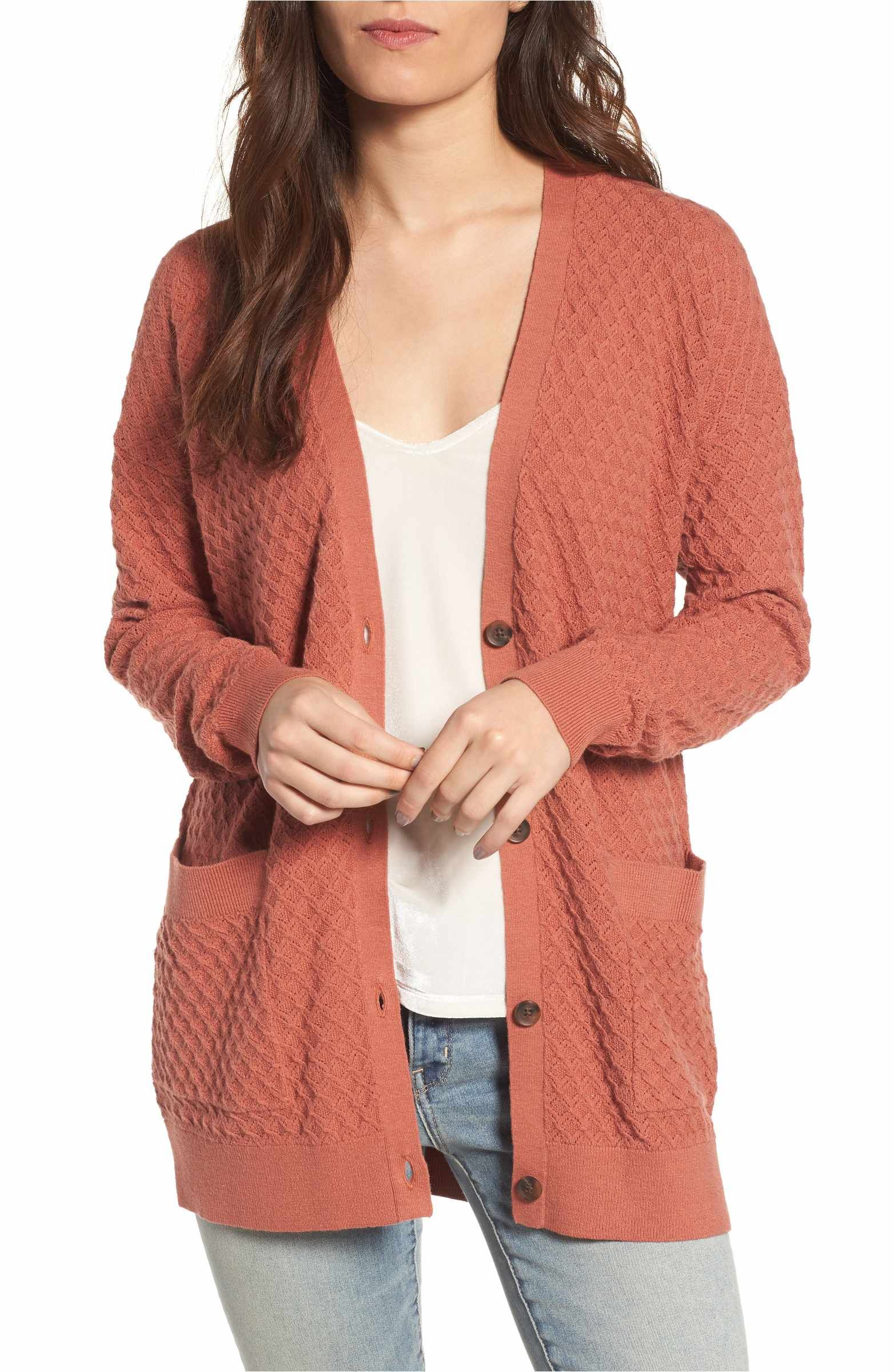 97e4832781 Main Image - Hinge Pointelle Cardigan Sweater