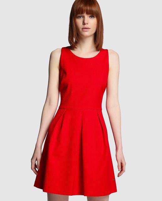 1ad207ecb Vestido de mujer Tintoretto rojo de piqué | artista en mi sangre en ...