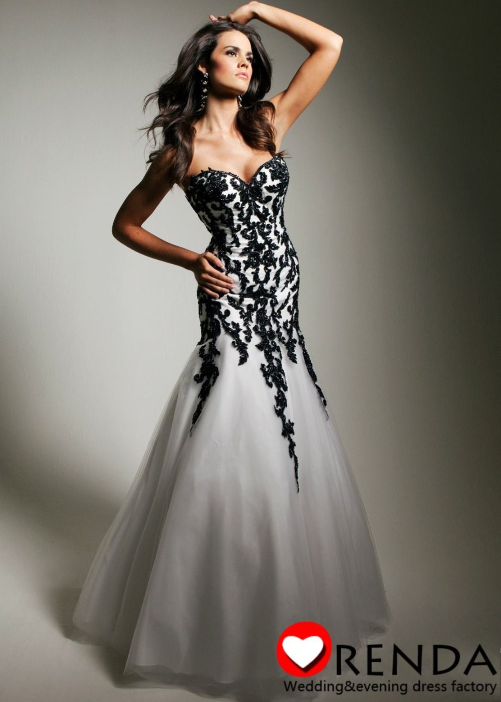 red mermaid prom dresses lace and sequins | ... Lace-With-Black-Beads-Sequined-Mermaid-Sexy-Tony-Bowls-Evening-Prom