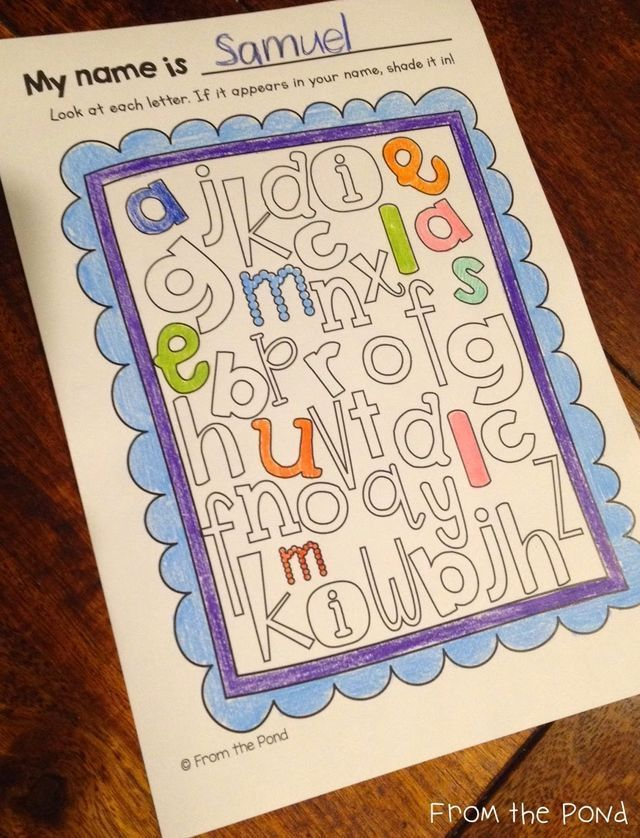 Back to School Learning with Names (Blog Hoppin ...