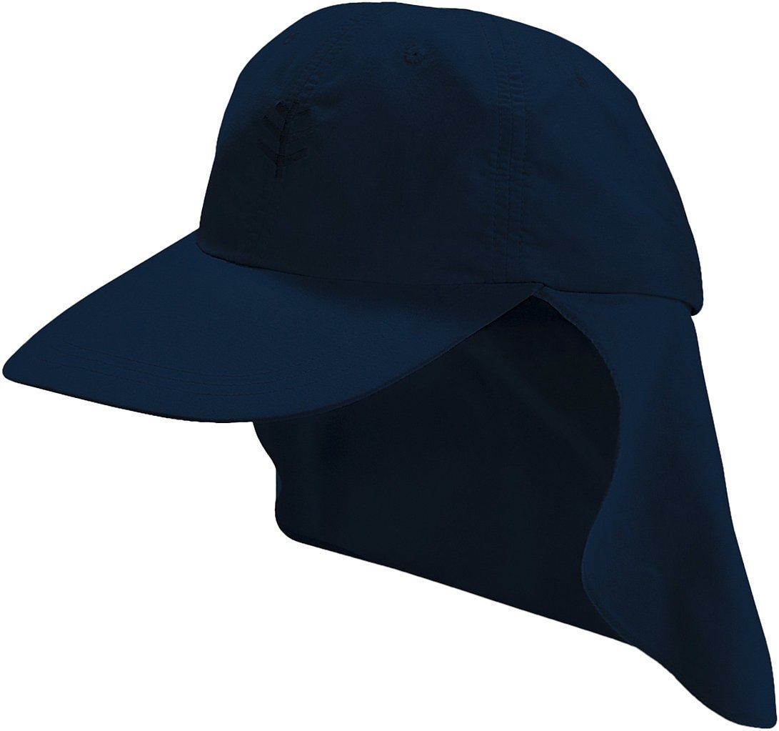 Coolibar UPF 50+ Kids  All Sport Hat - Sun Protective (Small - Navy). UPF 50+.  Extra-long 3