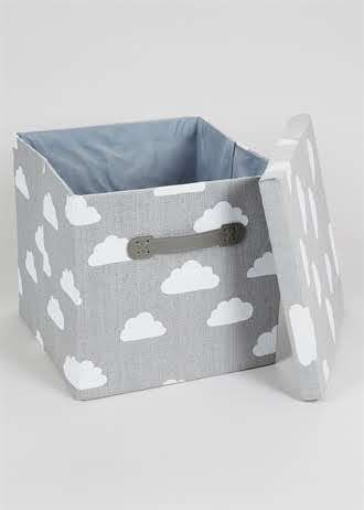 Bedroom Cloud Foldable Fabric Storage Box 33cm X 31cm