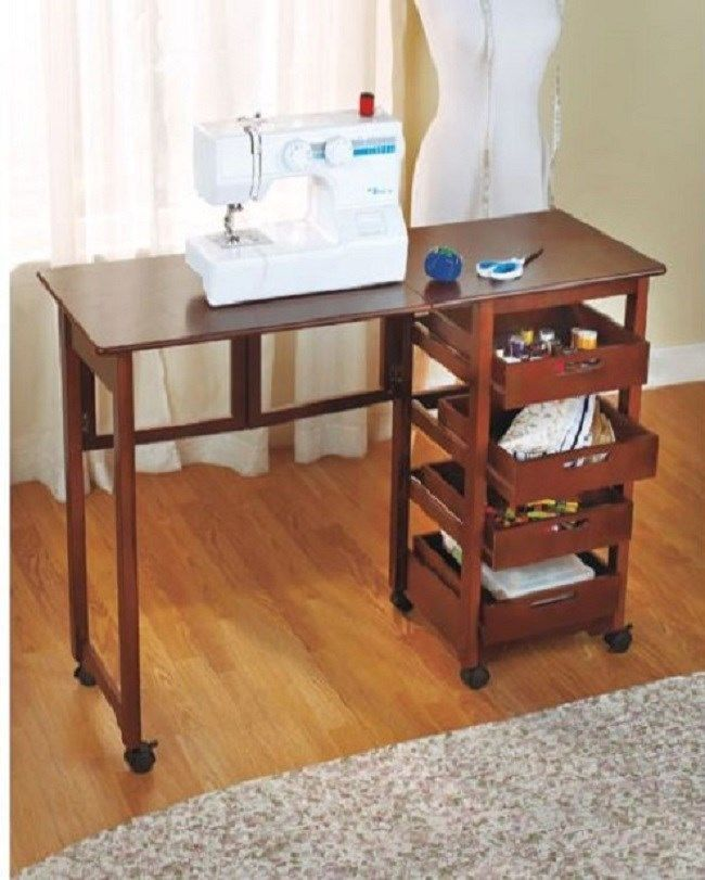 Sewing Machine Table Cabinet Craft Storage Dorm Hideaway Desk Drop Adorable Hideaway Sewing Machine Cabinet