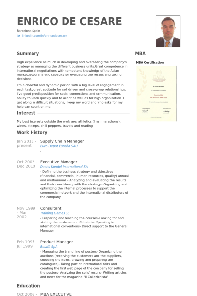 Supply Chain Manager Resume Supply Chain Manager Resume Example  Cv  Pinterest  Cv Examples